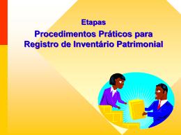 Procedimentos Práticos para Registro de Inventário Patrimonial