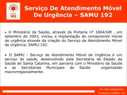 Slide 1 - Secretaria Estadual de Saúde