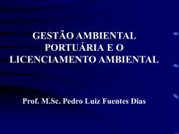 gestão ambiental portuária e o licenciamento
