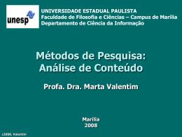 MPC - Métodos - Análise de Conteúdo