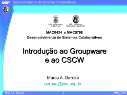 Marco A. Gerosa - IME-USP