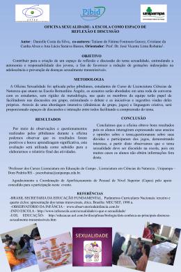 anexo 50 Poster SIEPE OFICINA SEXUALIDADE A ESCOLA COMO