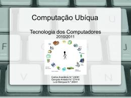 P105 - Computação Ubíqua