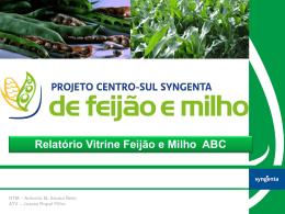 Apresentação do Relatório vitrine feijão e milho ABC