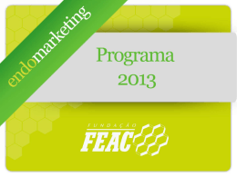 Programa Endomarketing 2013 - Intranet FEAC