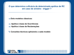 AON – Treinamento interno – Triggers em Apólices RC e Contratos