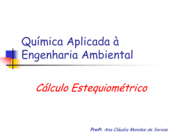 Calculo estequimétrico_continuação