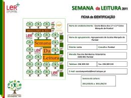 Diapositivo 1 - Plano Nacional de Leitura