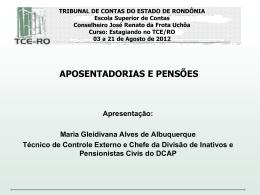 Aposentadorias e pensões - TCE-RO