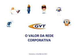 O valor da rede corporativa (PPT