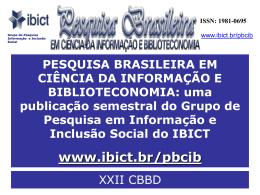 XXII CBBD apresentação SEER