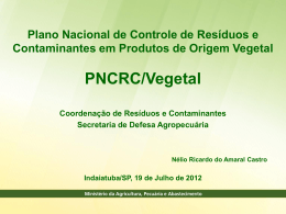 IN 42/2008: Institui o PNCRC/vegetal