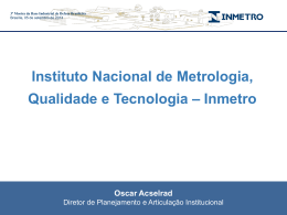 Apresentação - INMETRO | 3ª Mostra BID Brasil