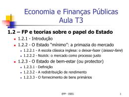 Economia e Finanças Públicas 2º Ec – Turmas T6 e T7