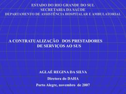 Estado do Rio Grande do Sul - Secretaria da Saúde
