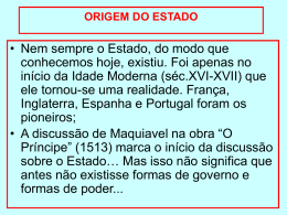 ORIGEM DO ESTADO - Capital Social Sul