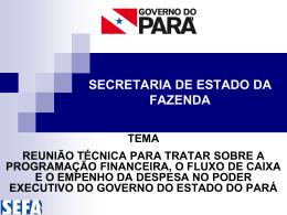 SECRETARIA DE ESTADO DA FAZENDA - Sefa