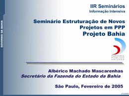 PPP Projeto Bahia - Sefaz-BA