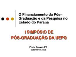Financiamento para Pesquisa e Pós