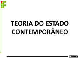 TEORIA DO ESTADO CONTEMPORÂNEO – INICIATIVA