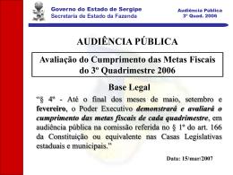 Secretaria de Estado da Fazenda - SEFAZ-SE