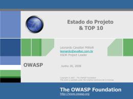 OWASP Estado do Projeto
