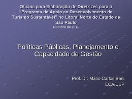 SECRETARIA DE ESTADO DE LAZER E TURISMO SEMINÁRIOS