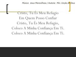 CRISTO, TU ÉS MEU REFUGIO4