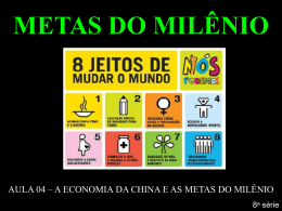 metas do milênio