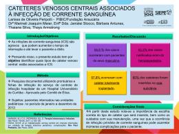 CATETERES VENOSOS CENTRAIS ASSOCIADOS À