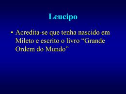 Leucipo e Demócrito