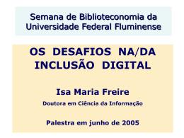 Desafios Inclusão Digital UFF