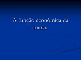 A função econômica da marca