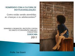 1º Seminário Municipal de Abrigos para Crianças e