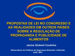 propostas de lei no congresso e as realidades