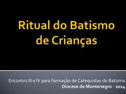 Ritual do Batismo de Crianças