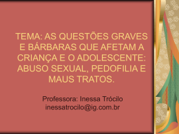 Palestra: Crimes Sexuais I