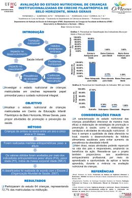 Avaliação Do Estado Nutricional de crianças institucionalizadas em