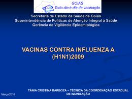 VACINAS CONTRA INFLUENZA A