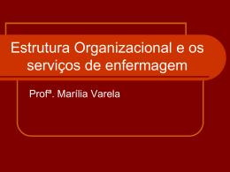 Estrutura Organizacional e os serviços de enfermagem