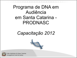 Slide 1 - Corregedoria-Geral da Justiça de Santa Catarina