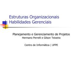 estruturas organizacionais - Centro de Informática da UFPE