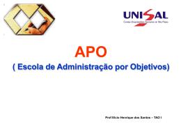 administração por objetivo (apo).