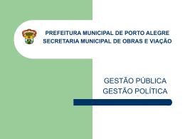 SECRETARIA MUNICIPAL DE OBRAS E VIAÇÃO