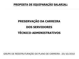 Proposta de equiparação salarial com USP e UNICAMP