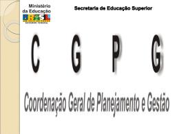 Apresentação de Valéria Grilanda relativa à CGPG - SESu