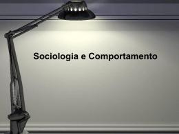 Sociologia e Comportamento