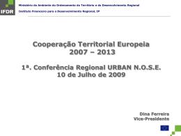 Cooperação Territorial Europeia 2007-2013