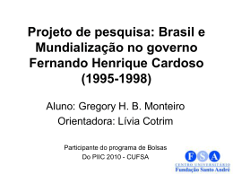 Brasil e Mundialização no governo Fernando Henrique Cardoso