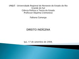 Direito indígena - Capital Social Sul